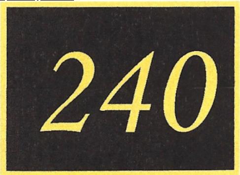 Number 240