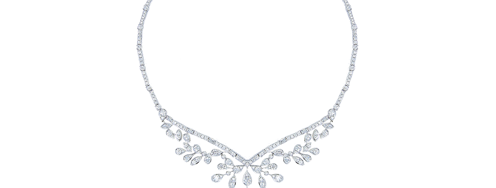 Diamond Necklace in 18K White Gold