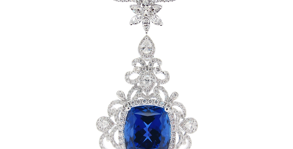 Tanzanite Necklace in 18K White Gold