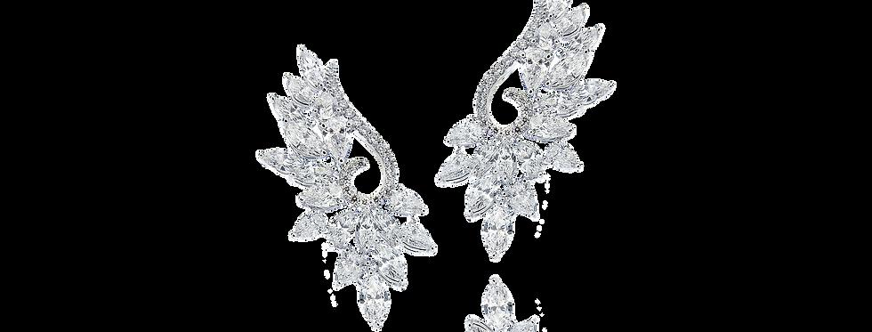 Diamond Earrings in 18K White Gold