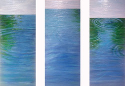 Pearland Pond Triptych Commission