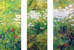 Sienna Garden Tryptich