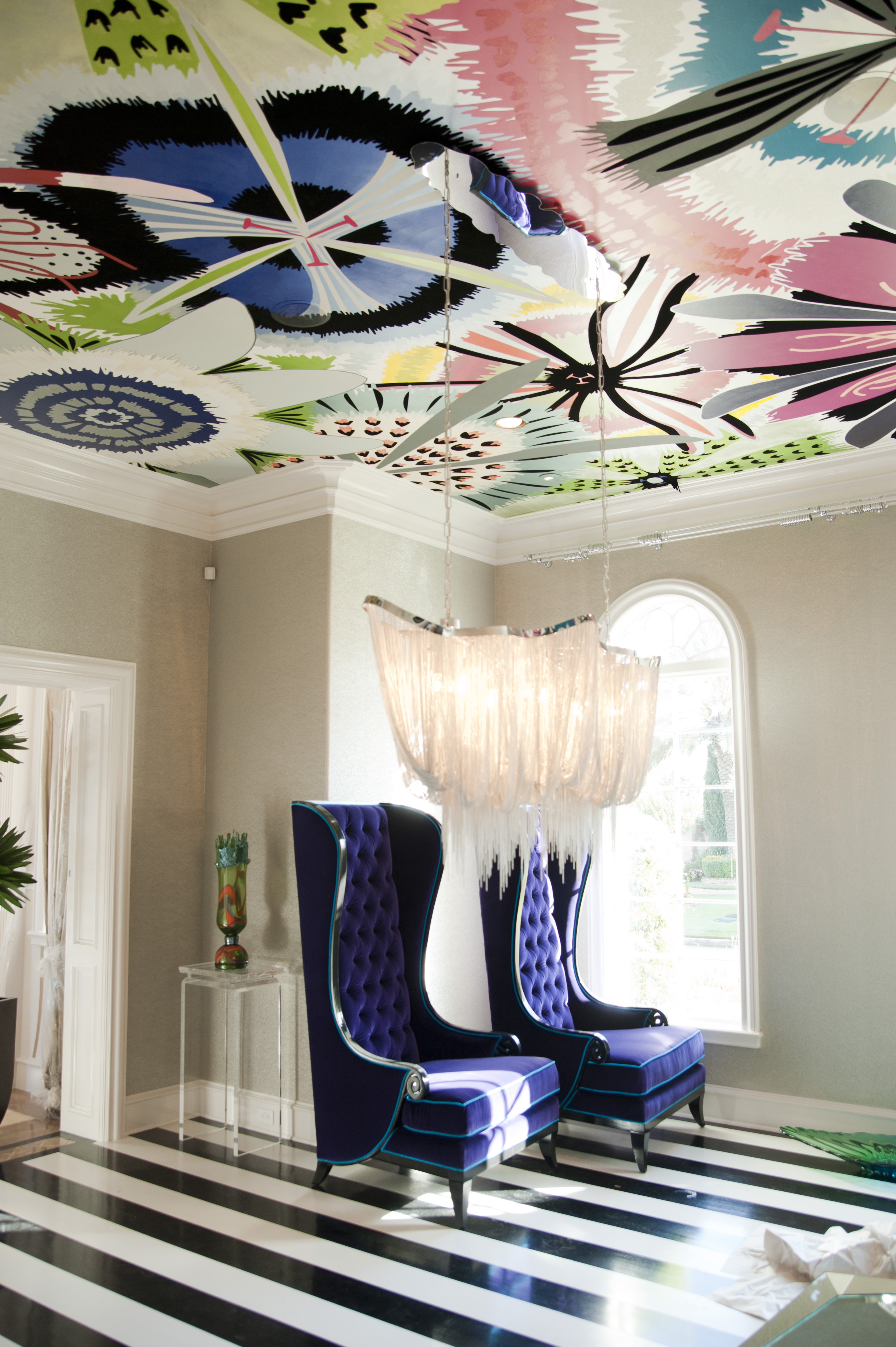 Ceiling Floral Mural