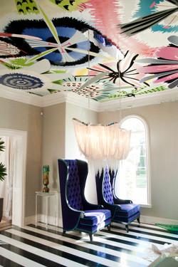 Ceiling Floral Mural