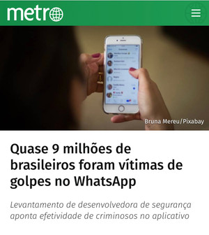 Hackers invadem contas de WhatsApp