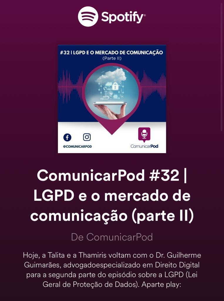 Podcast aborda o impacto da LGPD na comunicação