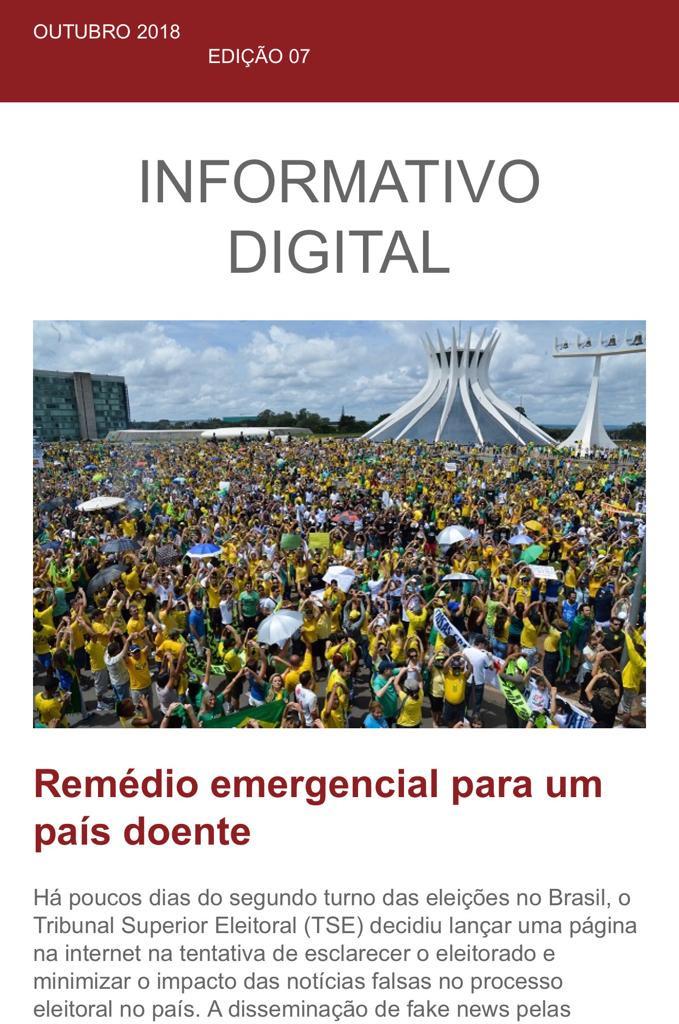 Fake news nas eleições e ataques hackers estão na pauta do Informativo Digital