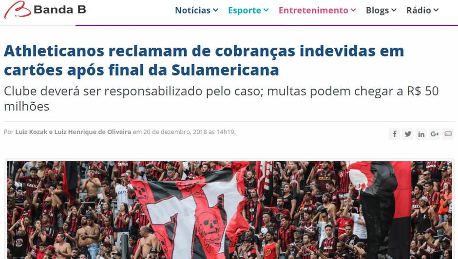 Vazamento de dados prejudica torcedores do Athletico