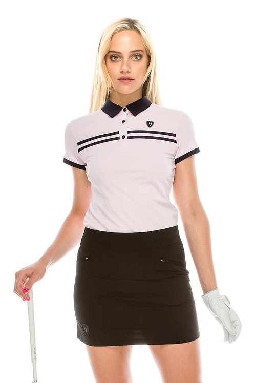 Double Black Stripe Polo