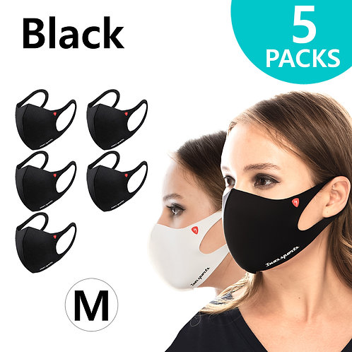 Performance Fashion Mask Black Medium