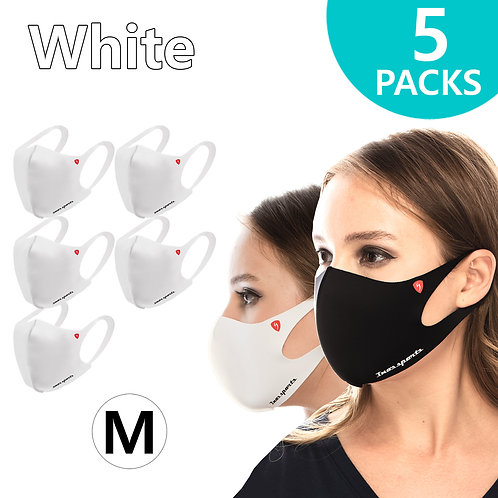 Performance Fashion Mask White Medium