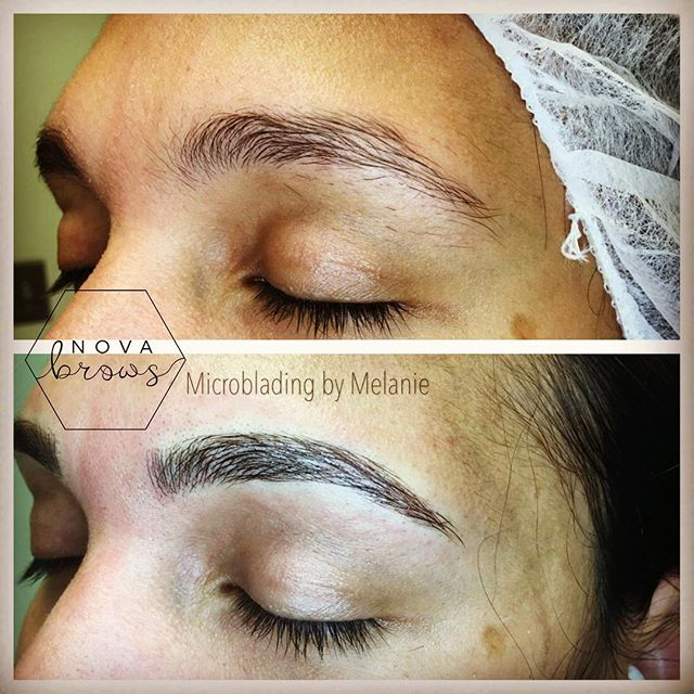 Never draw your brows in again!  #microbladingdc #microblading #pmubrows #eyebrows #virginiahair #mi