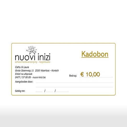 Kadobon Verschillende prijzen