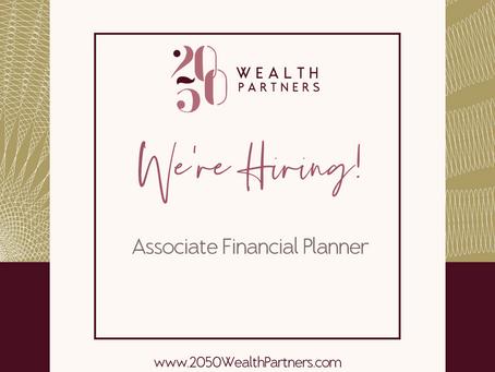 We're hiring an Associate Financial Planner!