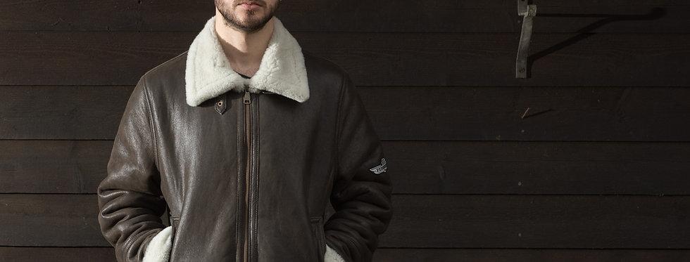 The Pembleton Flying Jacket, made of luxury sheepskin