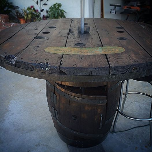 wine & wire table
