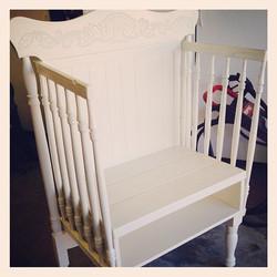 vintage crib bench