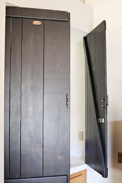 Room divider shutters