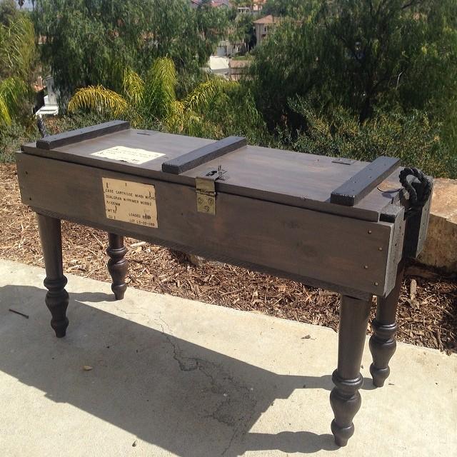 ammo box table