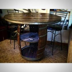 wine & wire pub table