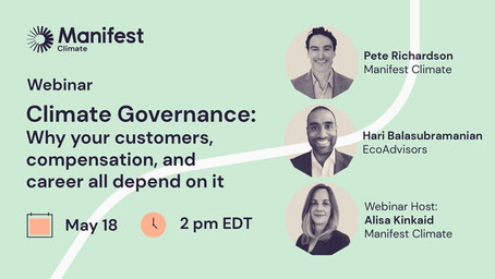 Climate Governance: Why your customers, compensation, and career all depend  on it