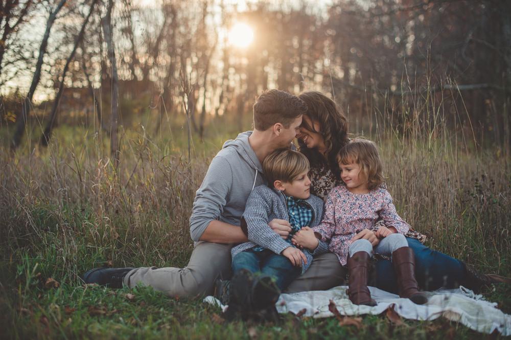 Woodland family portrait Norfolk