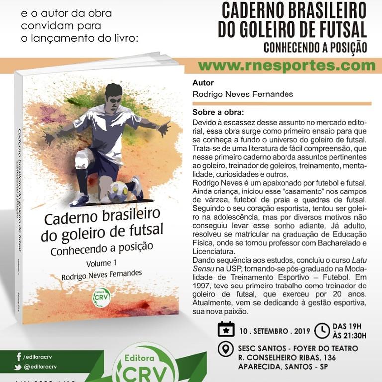 Lançamento do livro em Santos SP