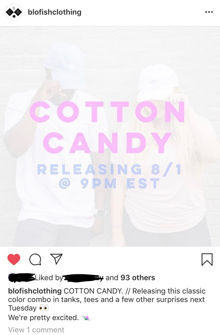 Cotton Candy Clothing Line Announcement