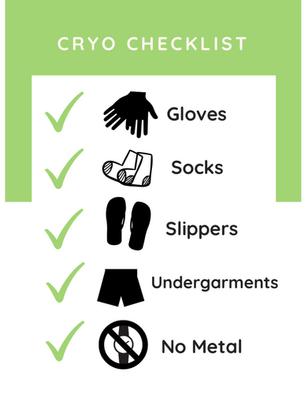 Cryo Chamber Checklist