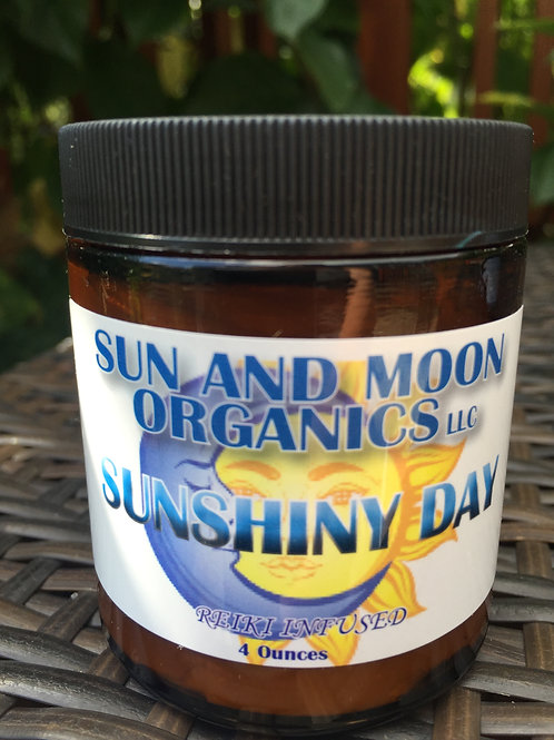 Sunshiny Day Calming & Uplifting Body Butter with Orange and Ylang Ylang 4oz