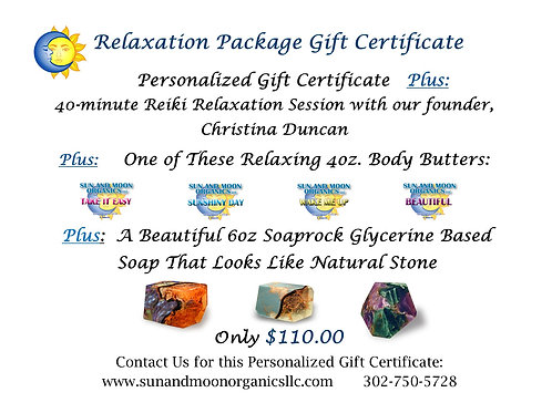Relaxation Package Gift Certificate