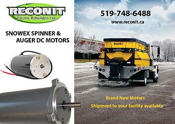 snowplow spinner motor