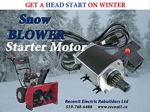 snowblower starter motor