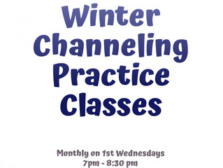 """(Wednesdays) Channeling Practice Classes. """"Channel it! Give it wings! Let your spiritual side soar!"""""""