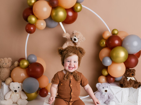 Happy Bear-y 🐻 First Birthday Teddy - Cake Smash Session With Jaemie Hillbish Photography