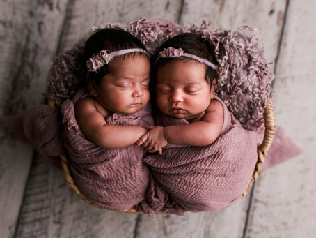 Twin Isabella & Sofia Newborn Session -With Jaemie Hillbish Photography