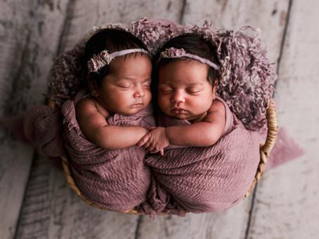Twin Isabella & Sofia Newborn Session -With Jaemie Hillbish Photography