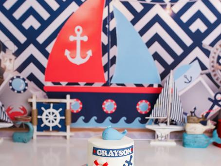 Grayson's Smooth Sailing 🛥 Cake Smash With - Jaemie Hillbish Photography