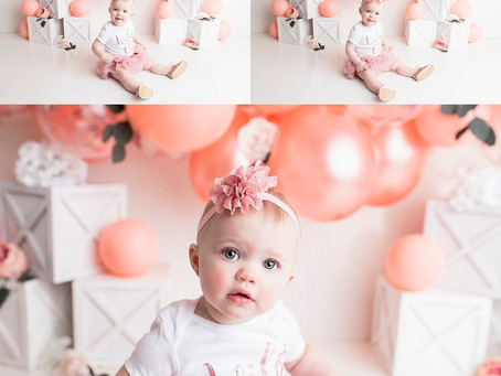 Oaklyn's Cake Smash Session - With Jaemie Hillbish Photography