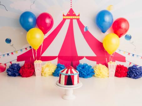 Circus Cake Smash Session - With Jaemie Hillbish Photography.