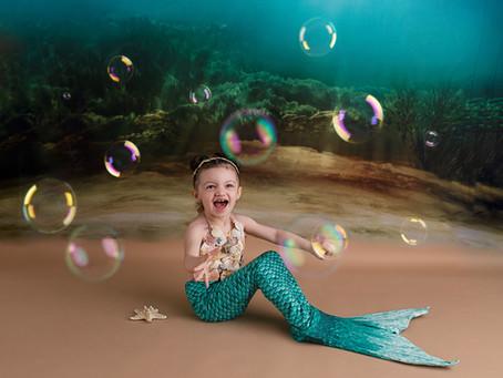 3rd Birthday Mermaid Under the Sea Photoshoot - With Jaemie Hillbish Photography