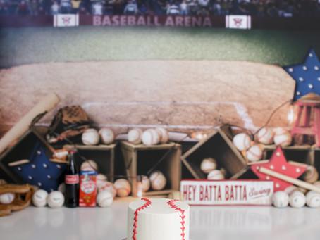 Artie'e First Birthday Baseball Cake Smash - With Jaemi eHillbish Photography