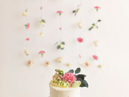Lily's Floral Boho Inspired Cake Smash - With Jaemie Hillbish Photography.