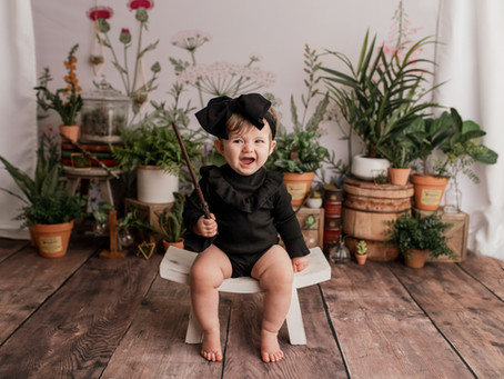 Charolette's Harry Potter Herbology 🌿 Inspired Cake Smash Session - With Jaemie Hillbish Photograph