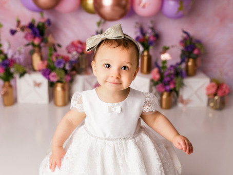 Maria's First Birthday Fairy Themed  Cake Smash Session - With Jaemie Hillbish Photography.