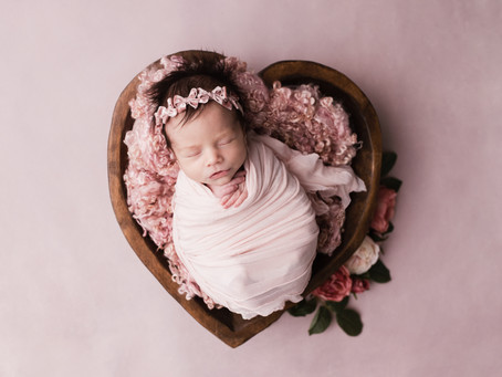 Emma Mae - Newborn Session With Jaemie Hillbish Photography.