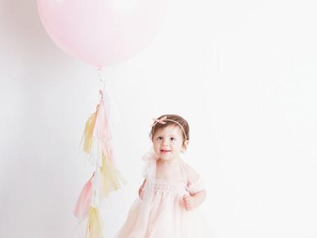Annie's Whimsical First Birthday Cake Smash and Splash - With Jaemie Hillbish Photography