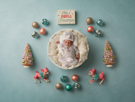Have a swell Christmas - Newborn Session with Jaemie Hillbish Photography