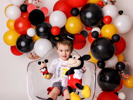 Trent's Mickey Mouse 3rd Birthday session - With Jaemie Hillbish Photography