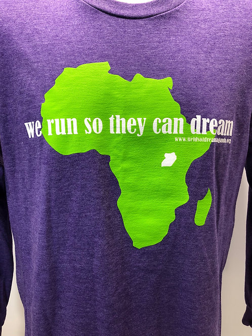 D4D5K We Run So They Can Dream T-Shirt - purple